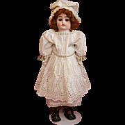 SOLD Antique Bisque Ernst Heubach in Antique Eyelet Dress