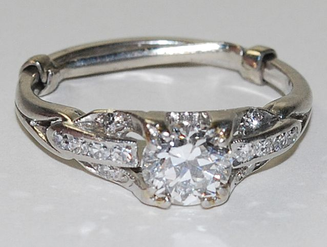 Ladies Platinum Ring, Vintage