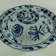 Blue Onion Meissen Covered Vegetable, Vintage