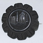 Antique: Irish Bogwood Brooch: Jewelry