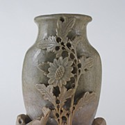 Antique: Asian Soapstone Vase