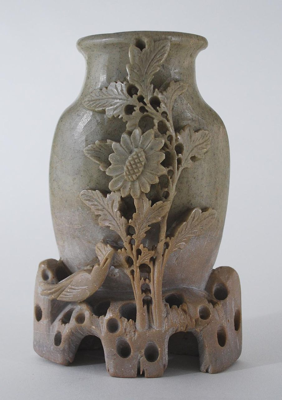 Antique: Asian Soapstone Vase