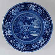 Antique Pottery Staffordshire Plate, Transferware