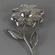 Mexican Sterling Silver Floral Salt Shaker, Vintage
