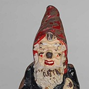 Antique Gnome Full Figure (FF) Iron Doorstop