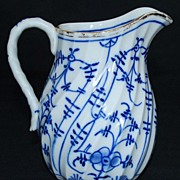 Antique Porcelain Blue and White Cream Pitcher
