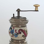 Antique Porcelain Gaudy Welsh Pepper Grinder
