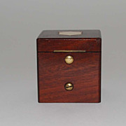 Antique Mahogany Cased Inkwell