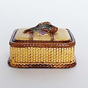 Antique Majolica Sardine Box with Cover