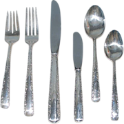 Vintage Sterling Silver Flatware Service for Twelve (12), Gorham, Six (6) Place Settings, plus Additional Serving Pieces