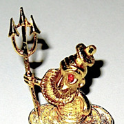Delightful Mamselle Pin--Clownish Neptune Rising From the Sea