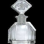 SOLD Beautiful 30's Czech Crystal Art Deco Perfume Bottle by Hoffman