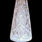 SALE Rare 1900's Baccarat Large Cut Crystal Perfume Atomizer