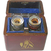SALE Vantines Mini Perfume Bottles in Oriental Lacquered Box