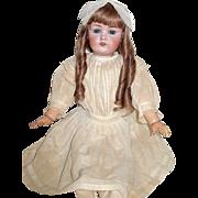 """SOLD 28"""" Kestner 214 Doll w Original Dress, HH Wig"""