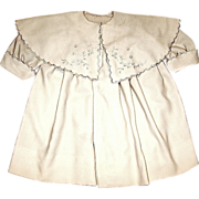 SOLD Gorgeous Edwardian Challis Wool Coat for Large Doll