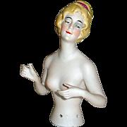 SALE Gorgeous Bisque Dreamy Eyes German Half Doll