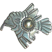SALE Rare Taxco 980 Sterling Silver Flying Eagle Pin
