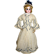 """SOLD Lovely Jumeau 13"""" French Fashion Doll w Marked Body, Original HH Wig"""