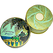 """SALE Gorgeous French 30's Riviera"""" Face Powder and Mini, Outer Box"""