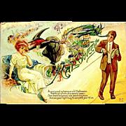 SOLD Popular Nash Halloween Postcard--Bachelor Series--free shipping