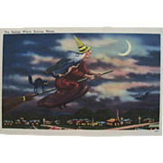 SOLD HTF Salem Witch Halloween Postcard—free shipping