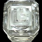"""SALE Large Lucien Lelong Art Deco """"Mon Image"""" Perfume Bottle"""