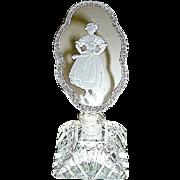 SALE Czech Perfume Bottle w Alpine Lady Stopper--free shipping