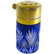"""SALE Exquisite c. 1920 French Cut Glass Perfume Atomizer for """"CHADY"""" Perfume--RARE"""