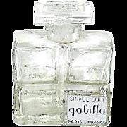 "HTF Gabilla ""SINFUL SOUL"" French Art Deco Perfume Bottle"