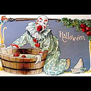 SOLD Very Scarce L & E German Halloween Fantasy Postcard