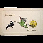 SOLD Classic Gibson Art Co. 1911 halloween Postcard