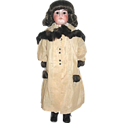 SALE 1/3 off Beautiful Vintage Mink Trimmed Coat for Large Doll