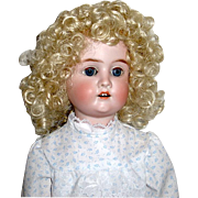 """SOLD Beautiful Adolph Wislizenus 24"""" Bisque Head Doll--free shipping"""