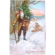 SOLD E.L German Series Christmas Postcard—Early Santa Claus