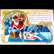 SOLD Excellent 1910 Comical Santa Claus Postcard