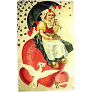 SALE HTF International Art Publishing Valentine Postcard--EXCELLENT (1 of 2)