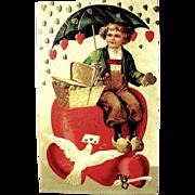 SALE HTF International Art Publishing Valentine Postcard--EXCELLENT (2 0f 2)