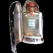 "SALE 50% SALE--Coty ""Paris"" Mini Perfume in Chrome Case—Minty"