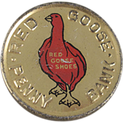 Red Goose Shoes Premium Tin Litho Penny Bank