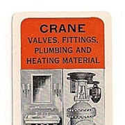 Celluloid Crane Co. Advertising Pocket Calendar Chicago 1925