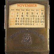 Commander Mill Co. Premium Bill Clip with Perpetual Calender