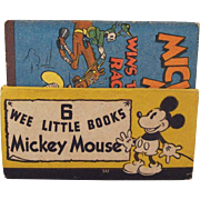 Mickey Mouse 6 Wee Little Books in the Original Box 1934