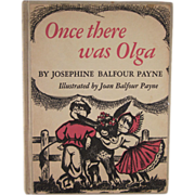 Once There Was Olga Hard Back Book First Edition