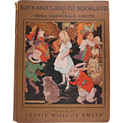 Boys and Girls of Bookland Hard Back Book Jessie Willcox Smith Illustrations
