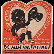 Rosen Black Americana Valentine, Sucker Holder Not Used
