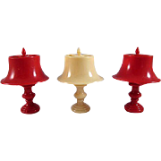 "Jaydon 3/4"" Hard Plastic Table Lamp Dollhouse Accessory Hard to Find"
