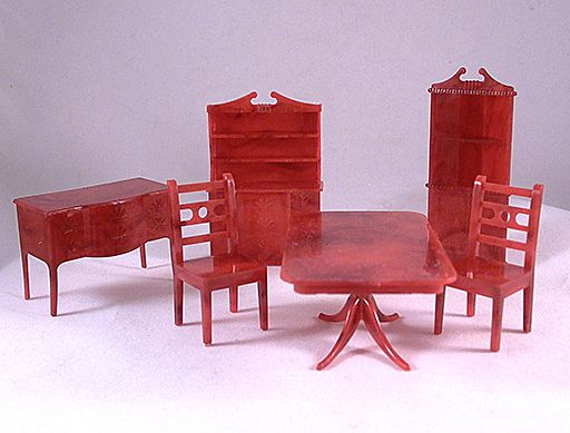 """Allied 1/2"""" 6 Piece Dining Room Set Dollhouse Furniture"""