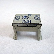 Marx Newlywed Tin Litho Kitchen Table Dollhouse Furniture