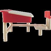 Thomas Toys Hard Plastic School Desk Dollhouse Furniture